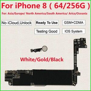 Image 1 - 아이폰 8 마더 보드 64 기가 바이트 256 기가 바이트/터치 id없이, 100% 원래 iCloud 아이폰 8 로직 보드에 대한 잠금 해제