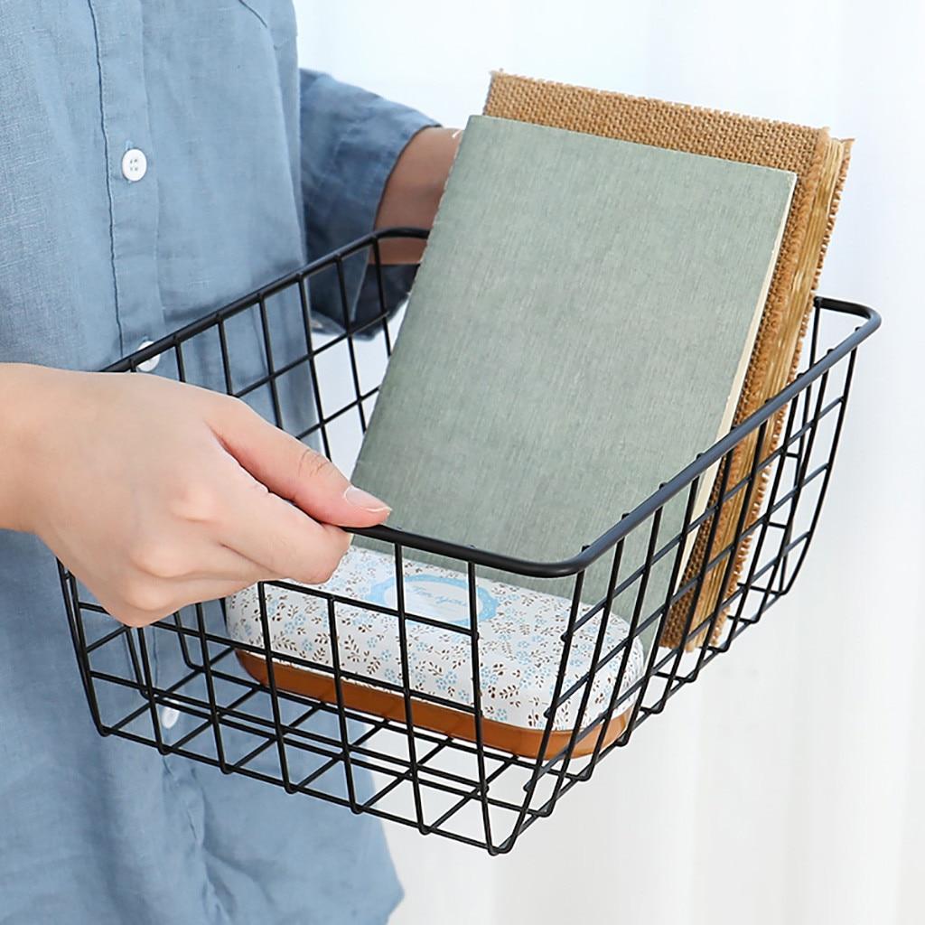 1 шт. Железная проволока корзина для хранения Организатор для ванной/кухня/прачечных многоцелевые Ведение домашнего хозяйства хранения при...