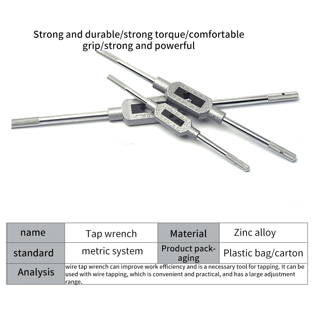 Adjust German Standard Steel Threading Die Wrench Holder Woodworking Hand Tool