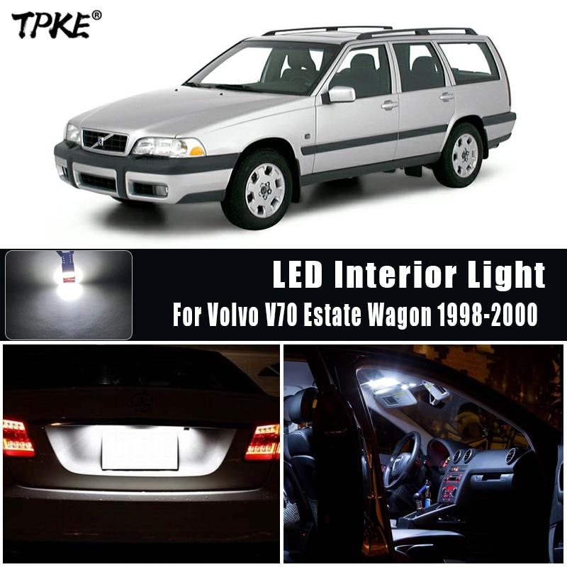 TPKE 14 шт. белые светодиодные с Canbus лампы автомобильные лампочки интерьер посылка комплект для 1998-2000 Volvo V70 для автомобиля с кузовом универсал ...