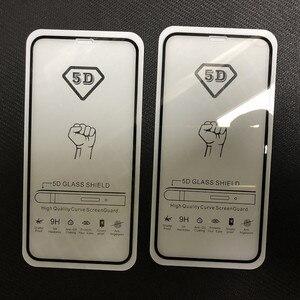 Image 4 - 10 pièces/lot 9D & 5D & Lion plein verre trempé recouvert de colle pour Xiaomi 9 Lite 9SE CC9 CC9E A3 pour Redmi Note 7 8 Pro Film décran