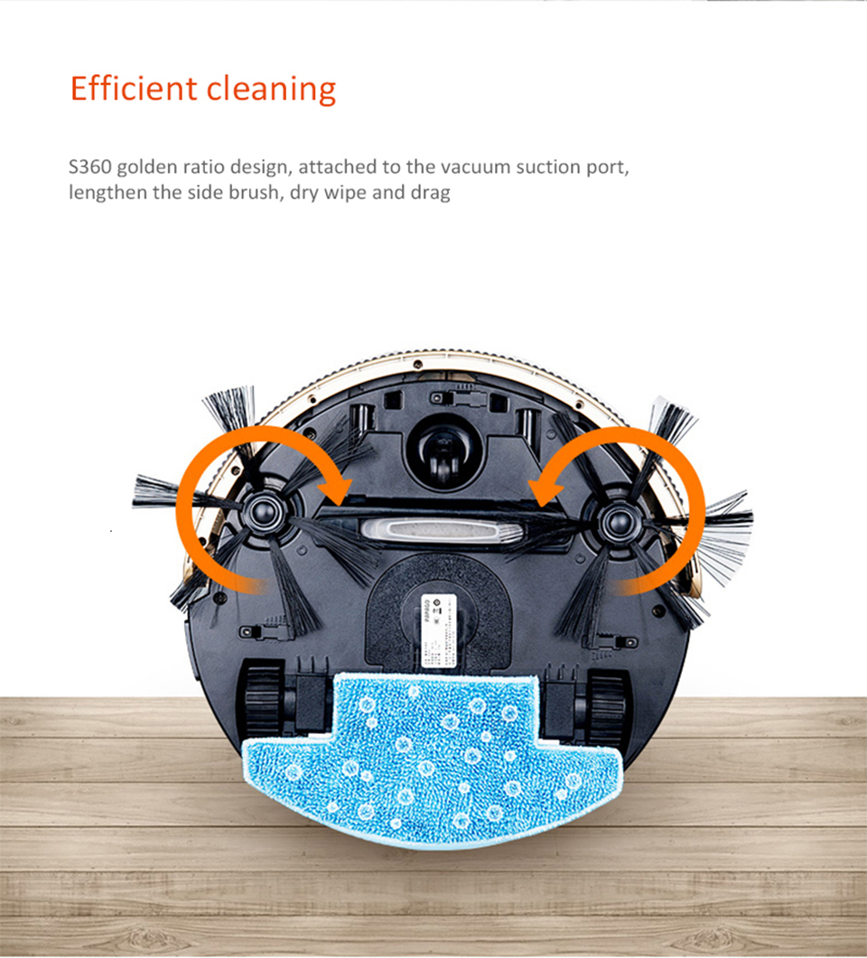 Inteligente varrendo robô aspirador de pó doméstico