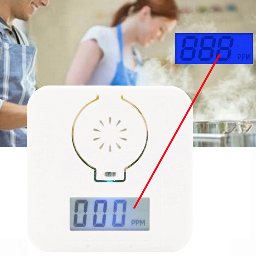 Warning-Alarm-Detector CO Carbon-Monoxide Sensor LCD Siren 85db Sound-Battery-Operated