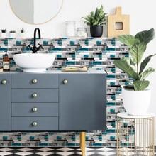 Azul ágata cinza mármore adesivo de parede do banheiro cozinha telha escada adesivo nenhum odor pungente durável pvc borda telha adesivo