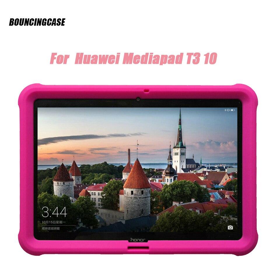 화웨이 MediaPad T3 10 케이스 AGS-W09/L09 9.6 인치 태블릿 어린이 친화적 인 충격 방지 실리콘 견고한 커버 슬리브