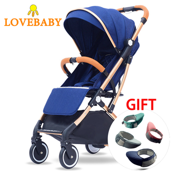 2 In 1 Baby Stroller Four Wheels Travel System 360 Rotation Baby Carriage Bassinet Lightweight Folding Infant Hot Mom Stroller