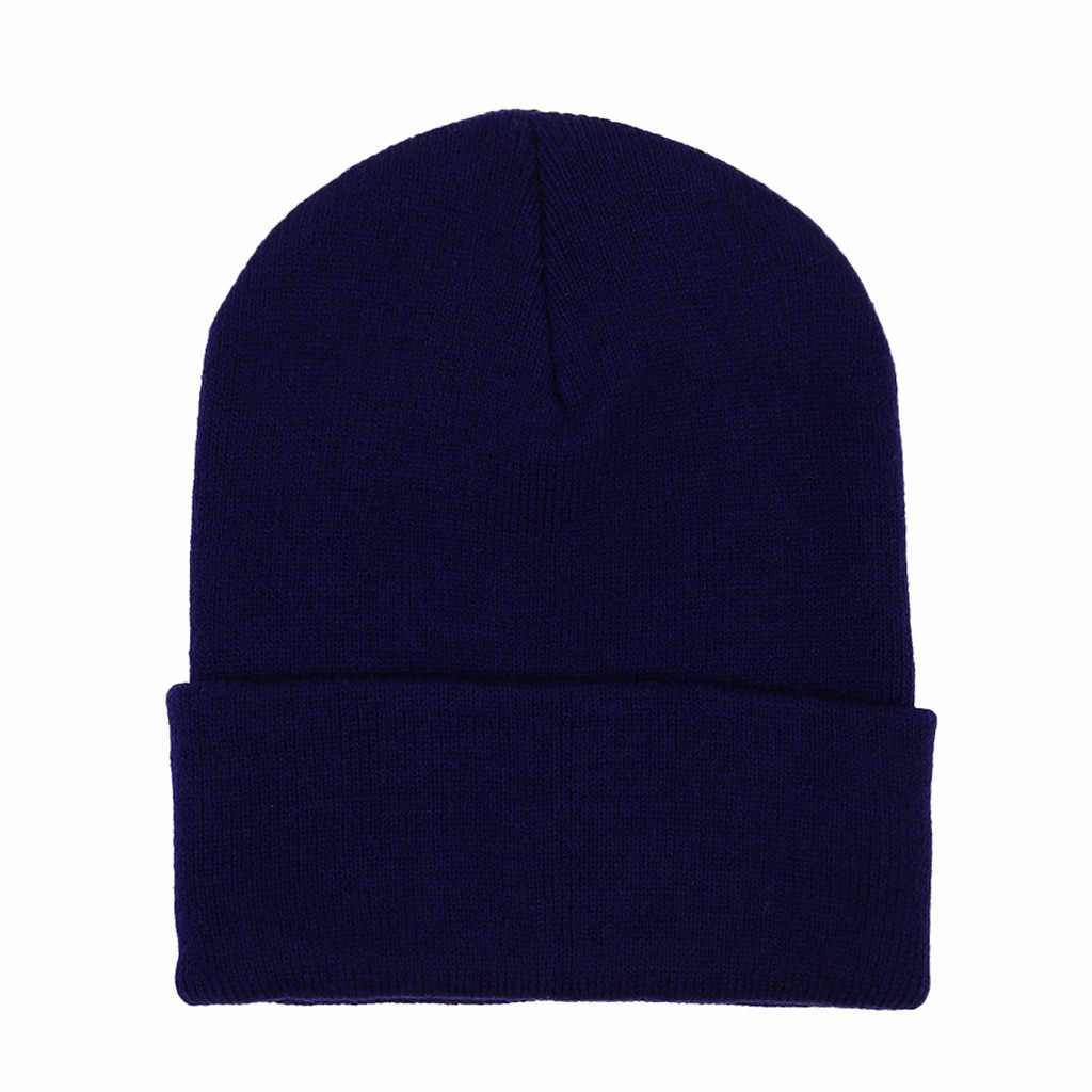 الرجال النساء الصوف حك بيني فضفاض الدافئة الكروشيه الشتاء تزلج قبعة الجمجمة مترهل قبعات قبعة الشتاء القبعات للنساء بونيه الفاتحة