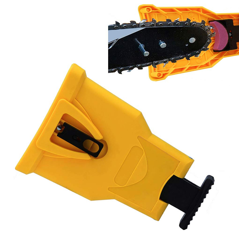 Teeth Sharpening Saw Chain Sharpener Bar-Mounted Fast Grinding Electric Power Chainsaw Chain Sharpener Woodworking Tools