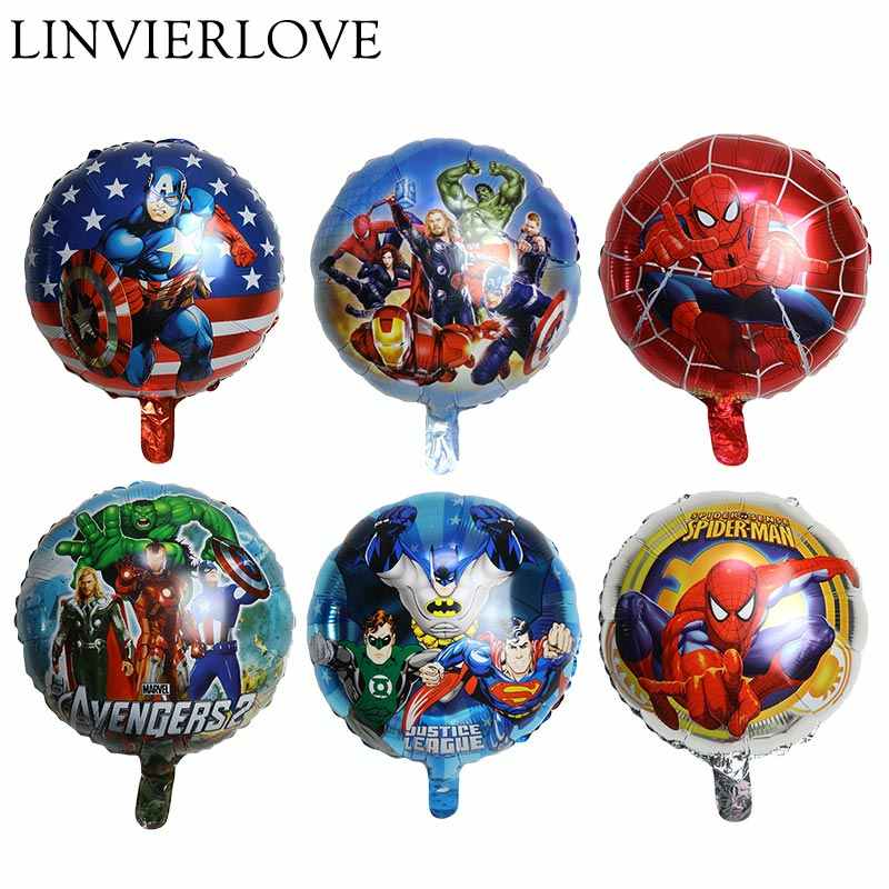 The Avengers Foil Balloon For Kids Happy Birthday Inflatable Helium&Air Balloons Paper Plate Napkins Banner Party Decor Supplies