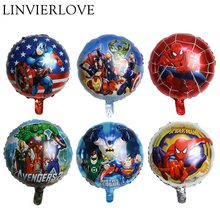 The Avengers Foil Balloon For Kids Happy Birthday Inflatable Helium&Air Balloons Paper Plate Napkins Banner Party Decor Supplies the avengers toys baloon ballons helium foil balloons party supplies superhero birthday party decoration avengers balloons