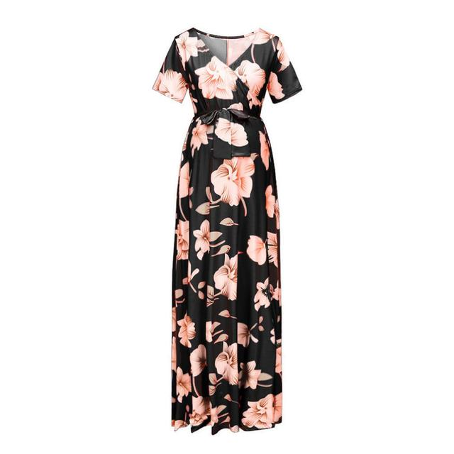 Women's Floral Short-sleeved Dress for Pregnancy 5