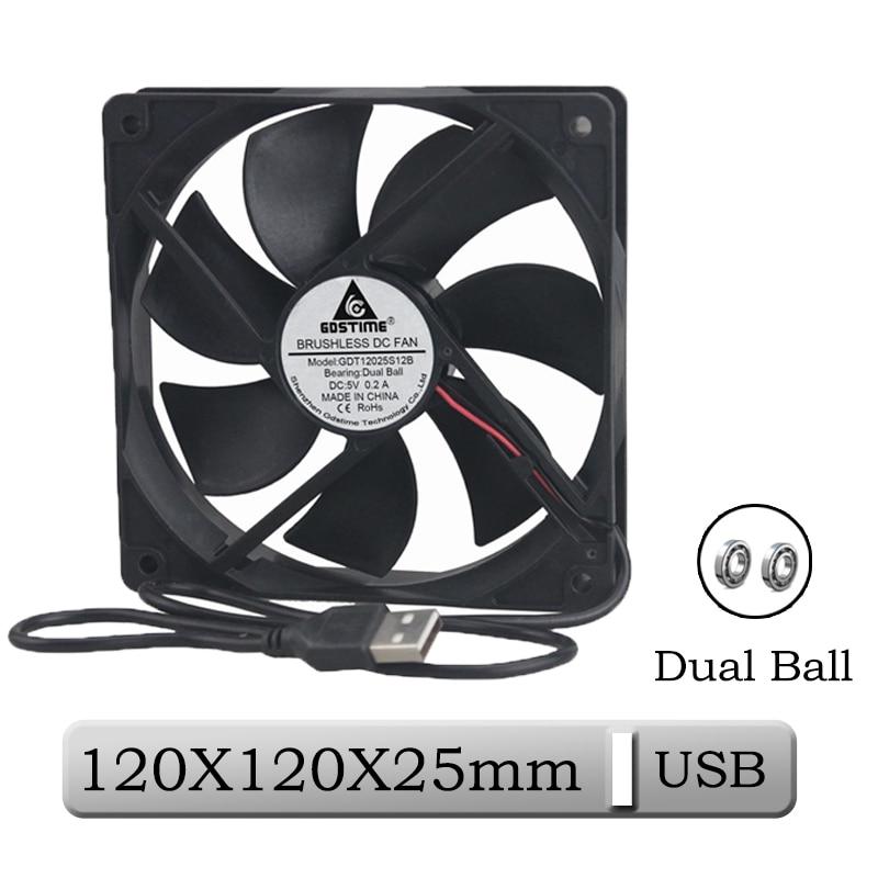 120mm Double Ball Bearing USB Powered Case Fan