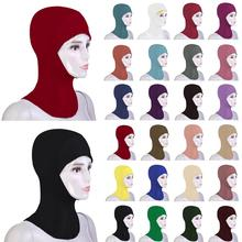 New Arab Muslim Soft Hijab Hat Inner Cap Under Scarf Bone Bonnet Ninja Soild Headscarf Full Head Cover Headwear Islamic Prayer