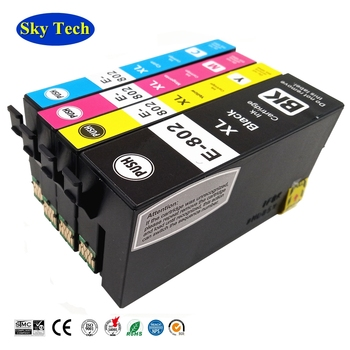Quality Compatible Ink Cartridge For  Epson 802XL T802XL , For WorkForce WF-4720 WF-4730 WF-4734 WF-4740 WF-4745 compatible ink cartridges suit for t1271 t1272 t1273 t1274 suit for epson nx530 nx625 wf 60 545 630 633 wf 3520 wf 3540 etc