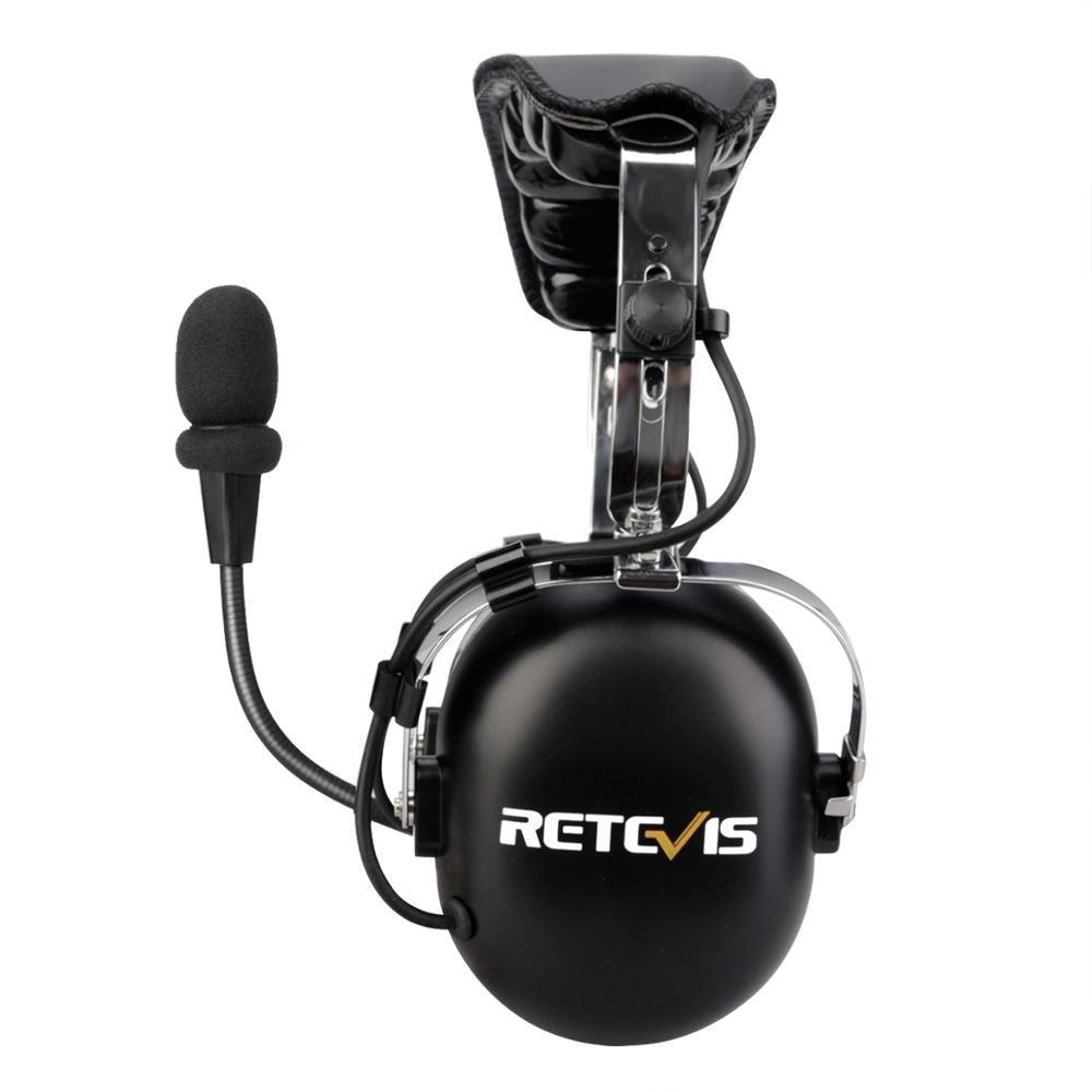 Retevis Black EH070K 2 pin Binaural Sleep Work Headset for Kenwood Baofeng Soundproof 24dB Anti-noise Headphone
