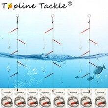 Рыболовные крючки Нержавеющая сталь установки поворотные рыболовные снасти приманки, рыбалка приманка одной строки крюк Япония с 5 маленких крючков