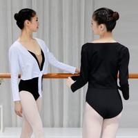 Adult Autumn Long Sleeve Ballet Wrap Top Coat Thermal Cotton Cardigan Jacket Ballet Gymnastic Training Clothes Female Dance Wear