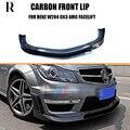 W204 C63 RZA Stil Carbon Vorder Lip Spoiler für Mercedes-Benz Benz W204 C63 AMG Stoßstange Limousine & coupe 2012 2013 2014