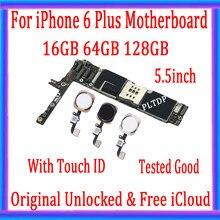 Материнская плата PLTDP для iPhone 6 Plus, 16/64/128 ГБ, оригинальный, разблокированный с бесплатным iCloud