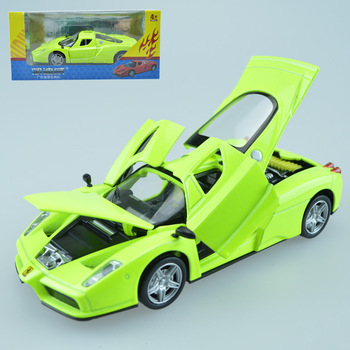 1:32 high simulation ferrarly alloy sound and light back sports car simulation children toys car model gift image