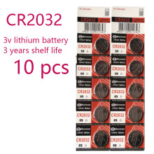 10 pçs original para cr2032 botão pilha bateria 3v baterias de lítio para brinquedos relógio computador calculadora controle cr 2032