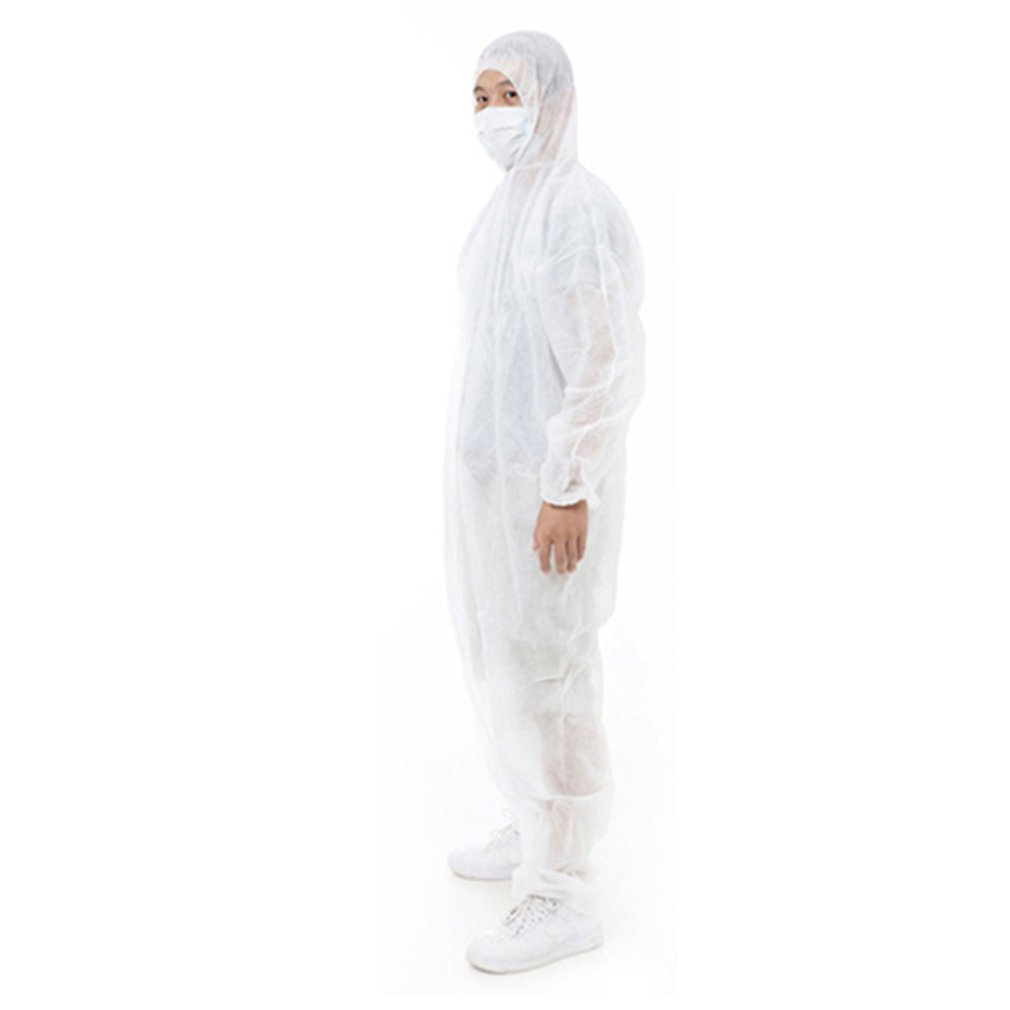 Disposible Siamese Protective Clothing Dust Suit Isolation Gown Clothes  Non-Woven Cloth Disposable Clean  1 Piece
