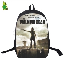 Travel backpack for men and women with Rick Grimes print laptop backpack for boys and girls цена