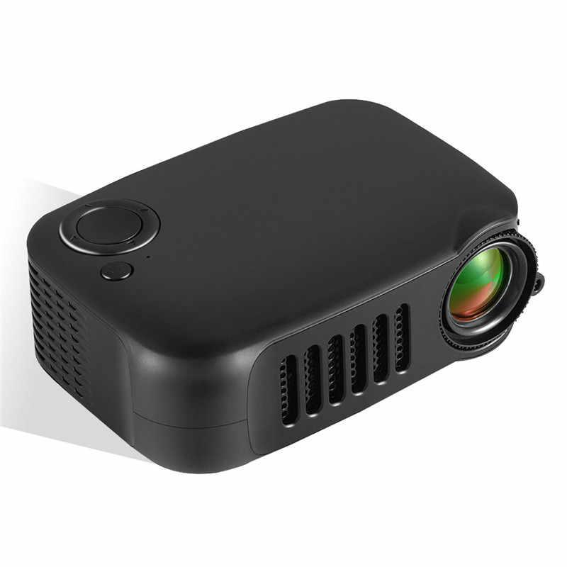 Портативный проектор 800 лм забота о глазу 1080P lcd 50000 часов лампа Жизнь Домашний кинотеатр видео проектор Поддержка power Bank