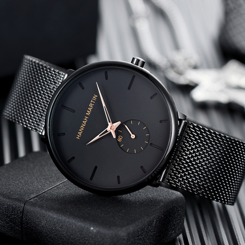Men Watches Simple Stylish Small Dial Top Brand Luxury Quartz Watch Casual Business Stainless Steel Mesh Belt Waterproof Watch