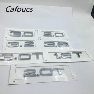 Rear Trunk Emblem Number Letters Badge Logo Sticker For Audi 1.6 2.0 2.4 2.8 3.0 3.2 4.2 3.6 1.8T 2.0T 3.0T