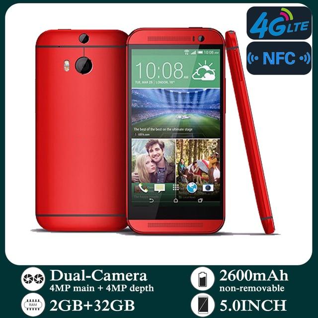 Original Smartphones M8 4G-lte Unlocked 5.0inch Android 2GB RAM 32GB ROM Cellphone 1080P 1080x1920 pixels NFC Mobile Phones 3