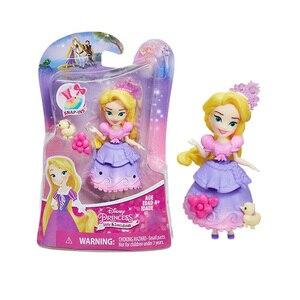 Image 2 - Disney Princess Belle Mulan Tiana  Merida Jasmine Rapunzel Ariel Pocahontas Cinderella Dolls Action Figure Model Toys for Girls