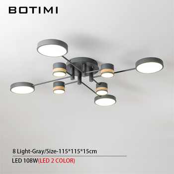 BOTIMI Home Decor LED Ceiling Lights For Living Room Round Metal Ceiling Lamps Surface Mounted Dining Lustres Bedroom luminaires 11