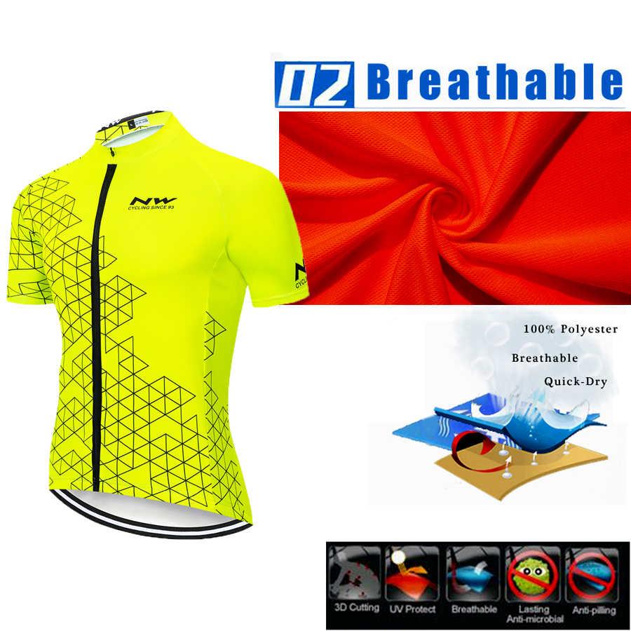 Nw northwave camisa de manga curta para ciclismo, camisas para bicicleta, mtb, vestimentas, 2020