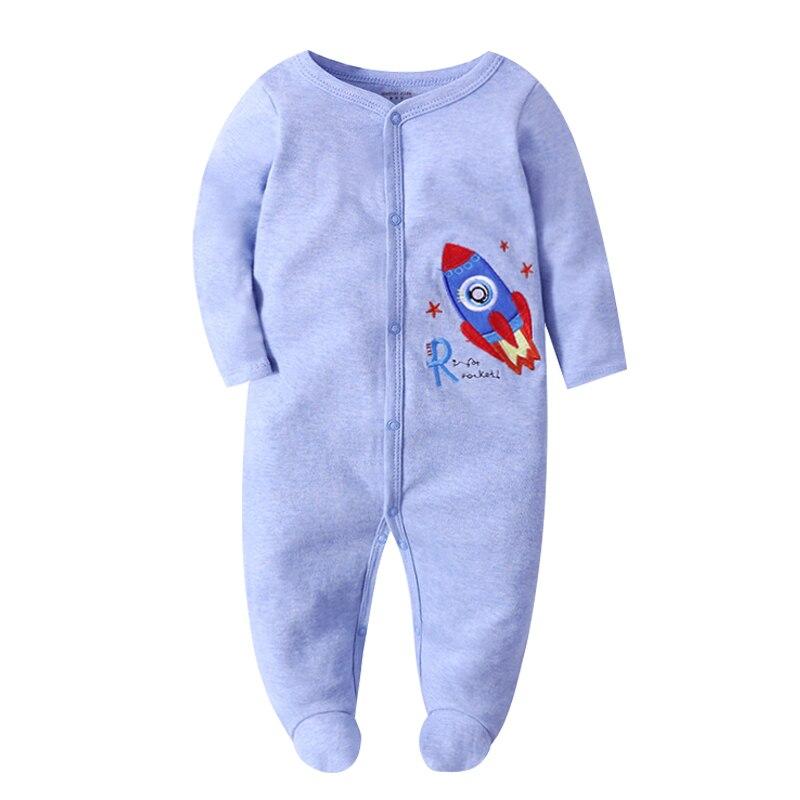 Newborn Sleeper Pajama Baby Boys Jumpsuit 3 6 9 12 Months 100% Coton Infant Girls Clothing