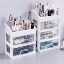 Multi-layer Plastic Drawer Makeup Organizer Cosmetic Storage Box Home Desktop Lipstick Nail Polish Sundry Storage Case Container plastic triple layer organizer container desktop diverse plastic drawer cosmetics makeup makeup storage box container
