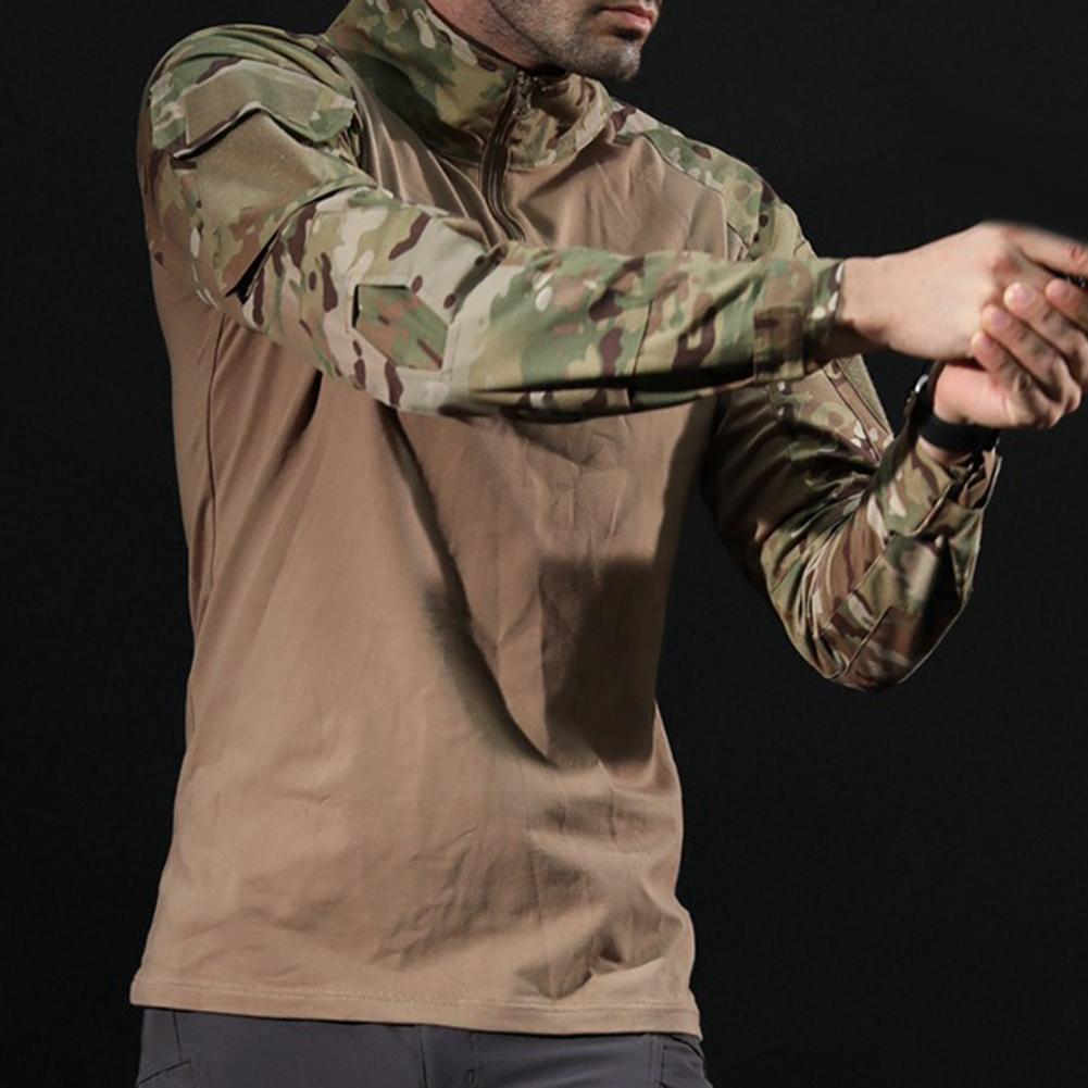Men Combat Shirt Top Uniform Airsoft Camouflage Combat-Proven Shirts Rapid Assault Sleeve Shirt Battle Strike футболка мужская