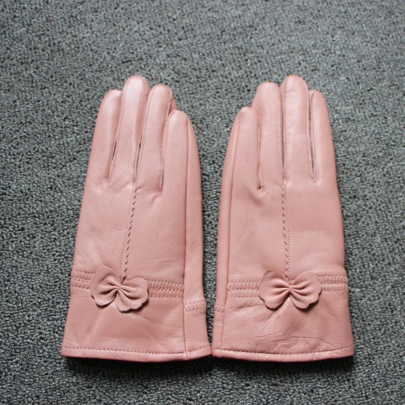H1bbcf1780d9d4f81b6d7b839fe2863ab2 - women's genuine leather gloves red sheepskin gloves autumn and winter fashion female windproof gloves