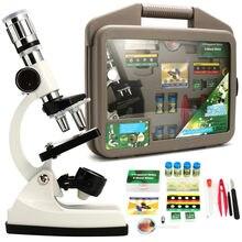 Bambini Avanzata Microscopio Biologico Discovery Science Tools Set 50X-1200X I Bambini A Casa il Laboratorio Scuola di Apprendimento Giocattoli Educativi Kit
