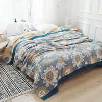 Manta Toalla de algodón para viajes, sofá, oficina, niños y adultos, edredón ligero y suave, para verano