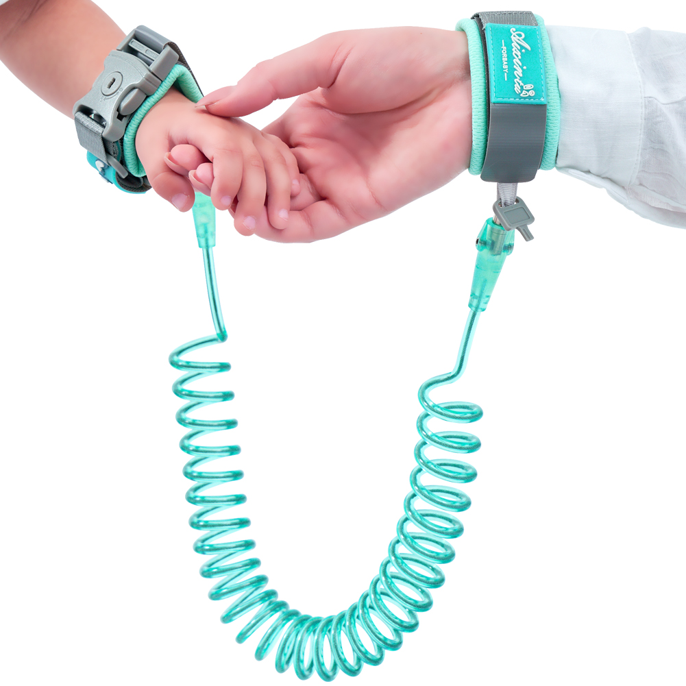 Pudcoco 360°Anti Lost WristLink Solid Traction Rope Unisex Toddler Kids PU Plastic Adjustable Safety Harness Leash Strap 1-12T