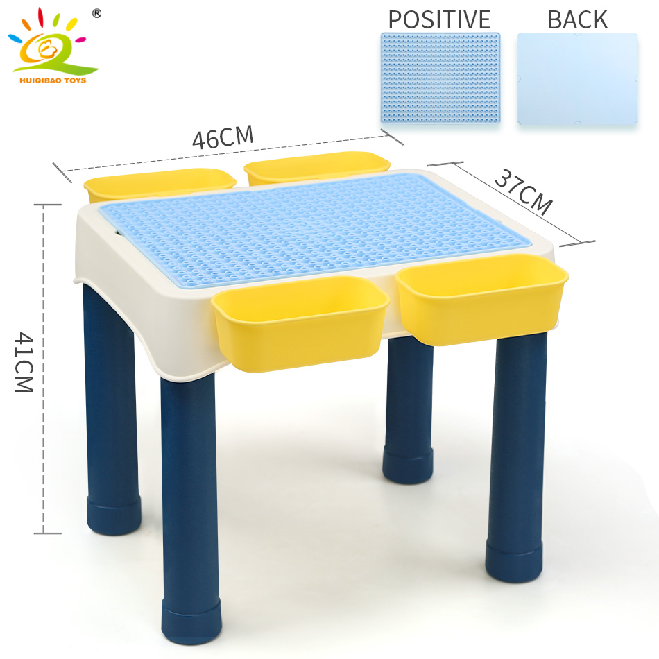 Table De Ping Pong Transformable us $72.49 50% off|children study desk multi function building blocks  learning table big size brick city construction compatible duploe toys  child-in