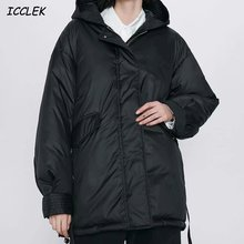 Женская толстовка с капюшоном черные зимние толстые пальто женская