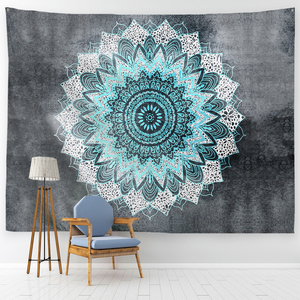 Image 3 - PROCIDA Mandala Tapeçaria Tapeçaria de Arte Tecido de Poliéster Padrão Tema, Decoração Da Parede para o quarto de Dormitório, Quarto, Prego incluído