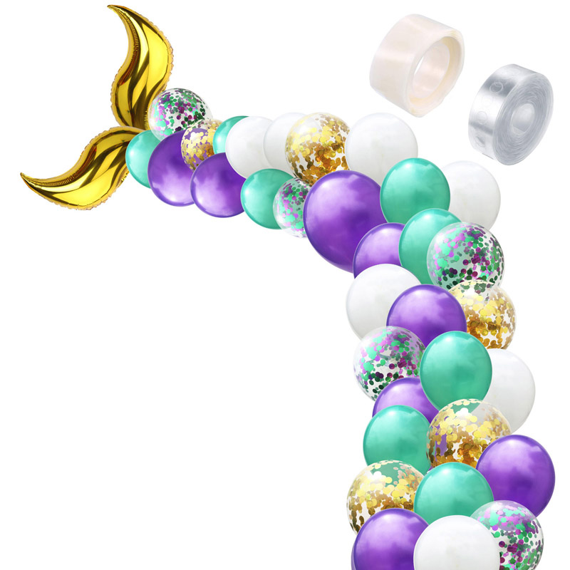 Mermaid Party Decoration Tail Balloons Wedding Festival Supplies Baby Shower Birthday Decor