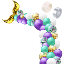 цена на Mermaid Party Decoration Mermaid Tail Balloons Wedding Party Festival Supplies Baby Shower Birthday Party Decor