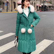 Winter Jacket Women Fashion Korean Cotton-padded Puffer Plus Size Coat Woman Parkas Fur Hooded Jackets
