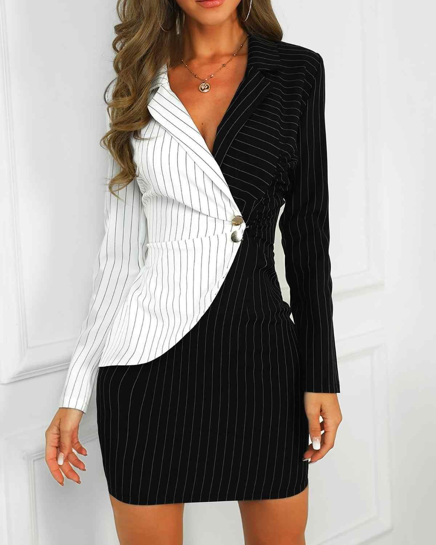 Robe Slim pour femmes, tenue de bureau, blanche ou noire, nouvelle  collection automne hiver 2021, 2021   AliExpress