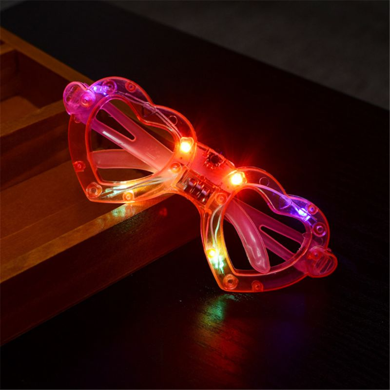 6 Stylish Shapes LED Glasses Light Up Flashing Birthday Party Favors Glow Up Toy Q6PD