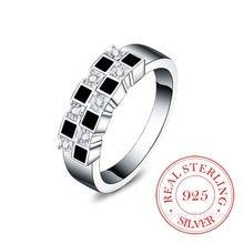 Bagues en Argent Sterling 925 pour hommes et femmes, de haute qualité, créatif, Cube en cristal Infinity, 925
